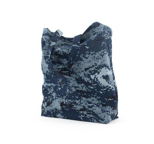 Izdržljiva vrećica od platna s maskirnim uzorkom mornarice.