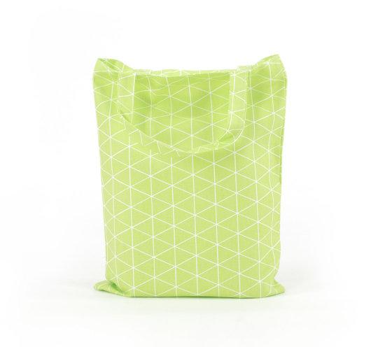 Zelena pamučna vrećica s trokutićima