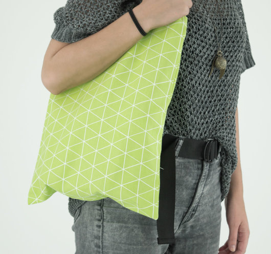 Platnena vrećica zelene boje