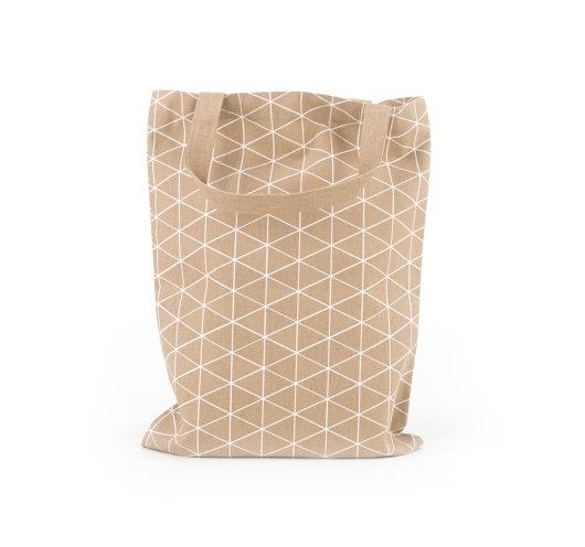 Platnena vrećica s uzorkom trokutića.