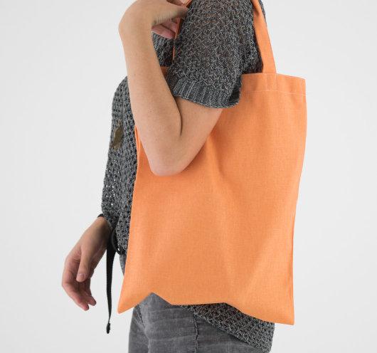 Platnena vrećica narančaste boje