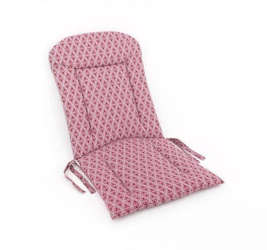 Dvodjelni jastuk za sjedenje bordo boje