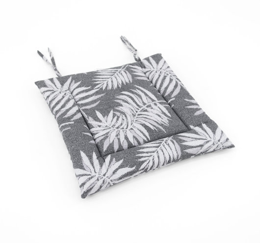 Pamučni jastuk za stolice sive boje
