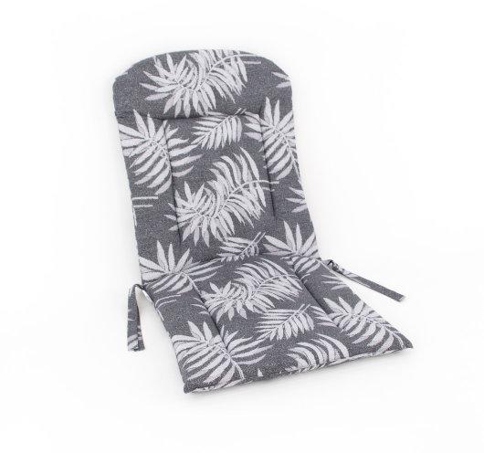 Jastuk sive boje s motivom lišća za vanjsku garnituru