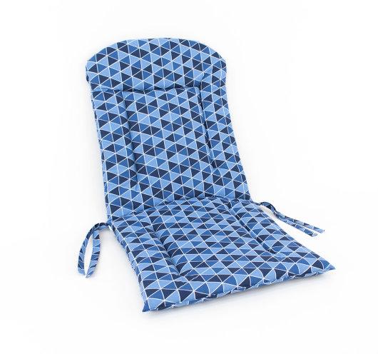 dvodijelni jastuk za vrtnu garnituru plave boje