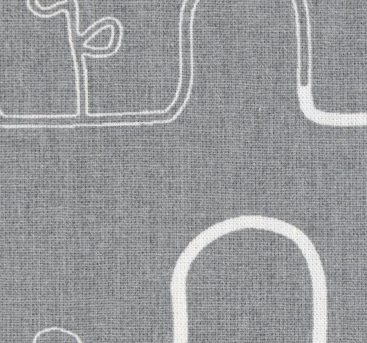 Tekstil siva boja s grafičkim uzorkom