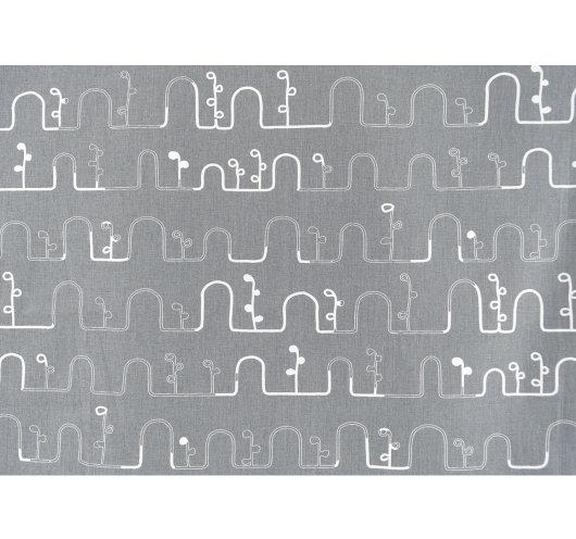 Sivi materijal s grafičkim uzorkom