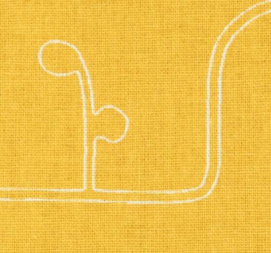 Žuta tkanina s uzorkom