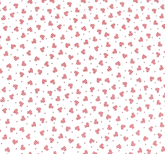 Tkanina s motivima srca za Valentinovo.