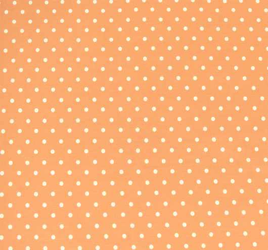 Narančasta tkanina na bež točke.