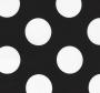 Crna tkanina s bijelim krugovima.