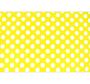 Žuta tkanina s bijelim krugovima.