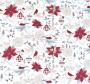Dezen bijele tkanine stiskanim božićnim motivima.