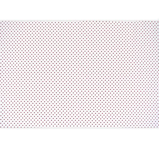 Dezen božićne bijele tkanine stiskanim bordo zvjezdicama.