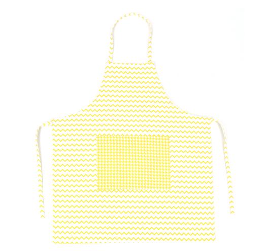Žuto-bijela, cik-cak pregača