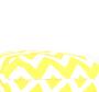 Ukrasni jastuk žuto-bijelog cik-cak dizajna.