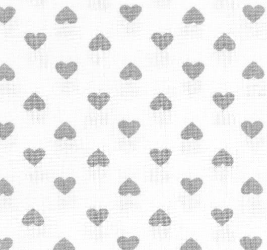 Bijela tkanina na siva srca.