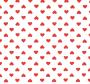 Bijela tkanina na crvena srca.