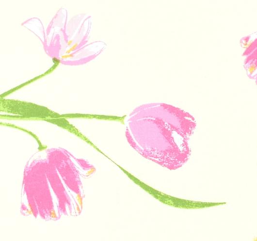 Tkanina s tulipanima.