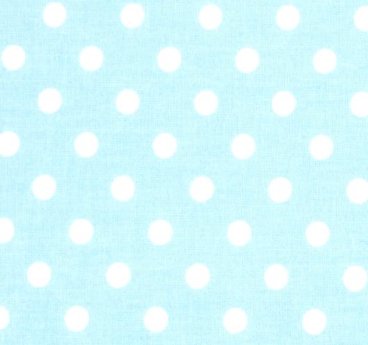 Svijetloplava tkanina na točkice.
