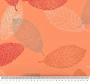 Narančasta tkanina s motivima lišća.